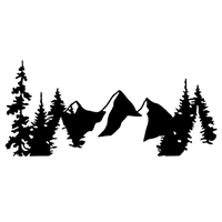 Mountians Die Cut Vinyl Decal PV2417
