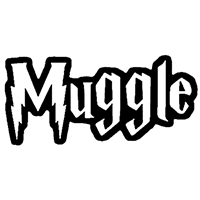 Muggle Die Cut Vinyl Decal PV2333