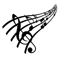 Music Notes Die Cut Vinyl Decal PV2233