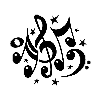 Music Notes Die Cut Vinyl Decal PV684