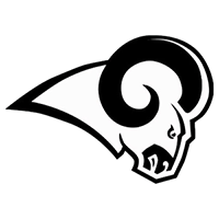 NFL Los Angeles Rams Die Cut Vinyl Decal PV619