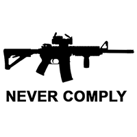 Never Comply Die Cut Vinyl Decal PV2444