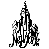 New York Die Cut Vinyl Decal PV1263
