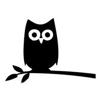 Owl Die Cut Vinyl Decal PV299