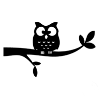 Owl Die Cut Vinyl Decal PV300