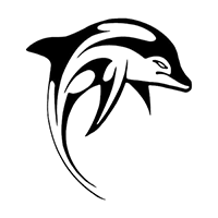 Dolphin Die Cut Vinyl Decal PV836