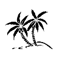 Palm Trees Die Cut Vinyl Decal PV747