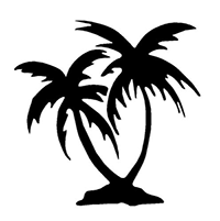 Palm Trees Die Cut Vinyl Decal PV839