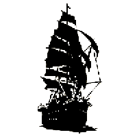 Pirate ship Die Cut Vinyl Decal PV1900