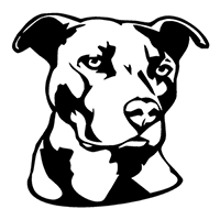 Pitbull Die Cut Vinyl Decal PV2188