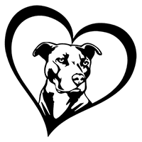 Pitbull Love Die Cut Vinyl Decal PV2180