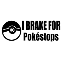 Pokemon Go I brake for pokestops Die Cut Vinyl Decal PV2151