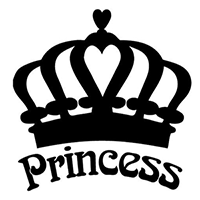 Princess Crown Die Cut Vinyl Decal PV268