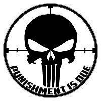 Punisher Die Cut Vinyl Decal PV965