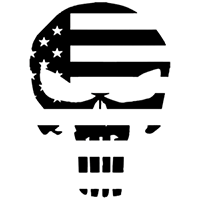 Punisher Flag Die Cut Vinyl Decal PV1375
