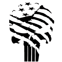 Punisher Flag Die Cut Vinyl Decal PV2279