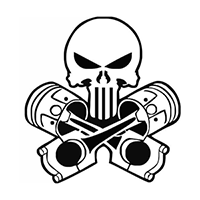 Punisher pistons Die Cut Vinyl Decal PV247