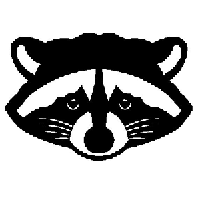 Racoon Die Cut Vinyl Decal PV987