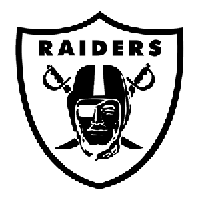 Oakland Raiders Die Cut Vinyl Decal PV641