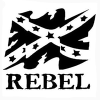 Rebel Flag Die Cut Vinyl Decal PV404