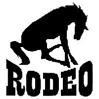 Rodeo Die Cut Vinyl Decal PV1008