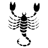 Scorpio Die Cut Vinyl Decal PV1193
