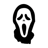 Scream Die Cut Vinyl Decal PV1347