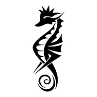 Sea Horse Die Cut Vinyl Decal PV1436