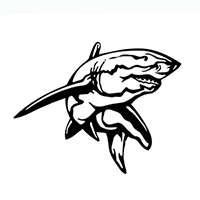 Shark Die Cut Vinyl Decal PV257