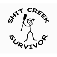Shit Creek Survior Die Cut Vinyl Decal PV2029