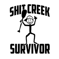 Shit Creek Survior Die Cut Vinyl Decal PV2228
