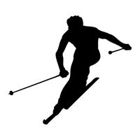 Skiing Die Cut Vinyl Decal PV1892