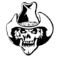 Skull Cowboy Die Cut Vinyl Decal PV1342