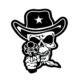 Skull Cowboy Die Cut Vinyl Decal PV1343