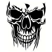 Skull Die Cut Vinyl Decal PV2179