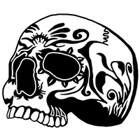 Skull Die Cut Vinyl Decal PV2261