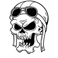 Skull Die Cut Vinyl Decal PV2264