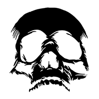 Skull Die Cut Vinyl Decal PV2292
