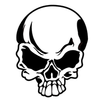 Skull Die Cut Vinyl Decal PV179