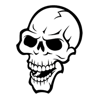 Skull Die Cut Vinyl Decal PV249
