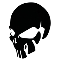 Skull Die Cut Vinyl Decal PV330