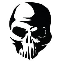 Skull Die Cut Vinyl Decal PV332