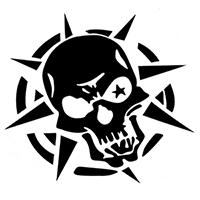 Skull Die Cut Vinyl Decal PV384