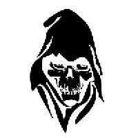Skull Reaper Die Cut Vinyl Decal PV549