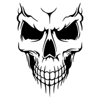 Skull Die Cut Vinyl Decal PV347