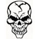 Skull Die Cut Vinyl Decal PV348