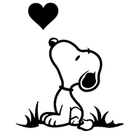 Snoopy Die Cut Vinyl Decal PV2318