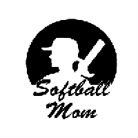Softball Mom Die Cut Vinyl Decal PV563