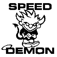 Speed Demon Devil Die Cut Vinyl Decal PV1226