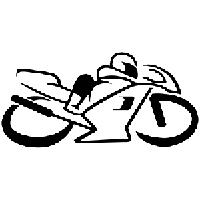 Sportbike Motorcycle Die Cut Vinyl Decal PV725
